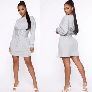 Fashion Nova Do The Things You Do Dress Size Large